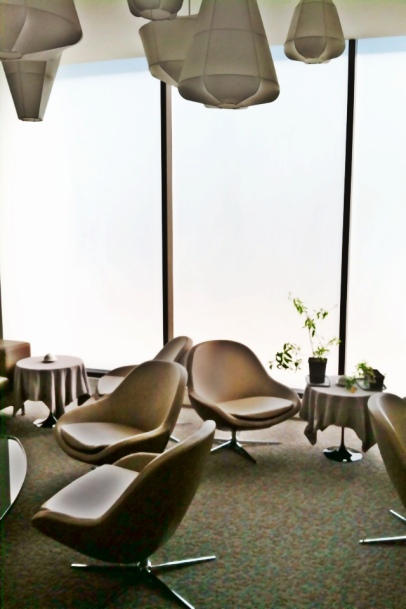 BoConcept is proud to have a part in Grace. The sitting lounge is furnished with our Veneto chairs.